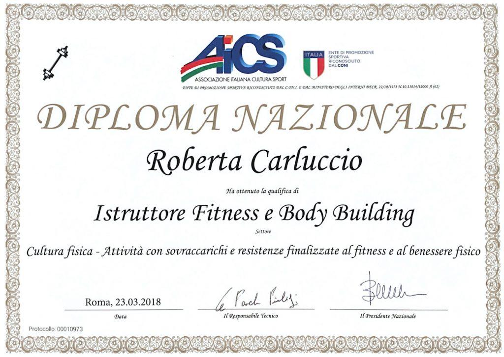 Diploma Nazionale Istruttore Fitness e Body Building